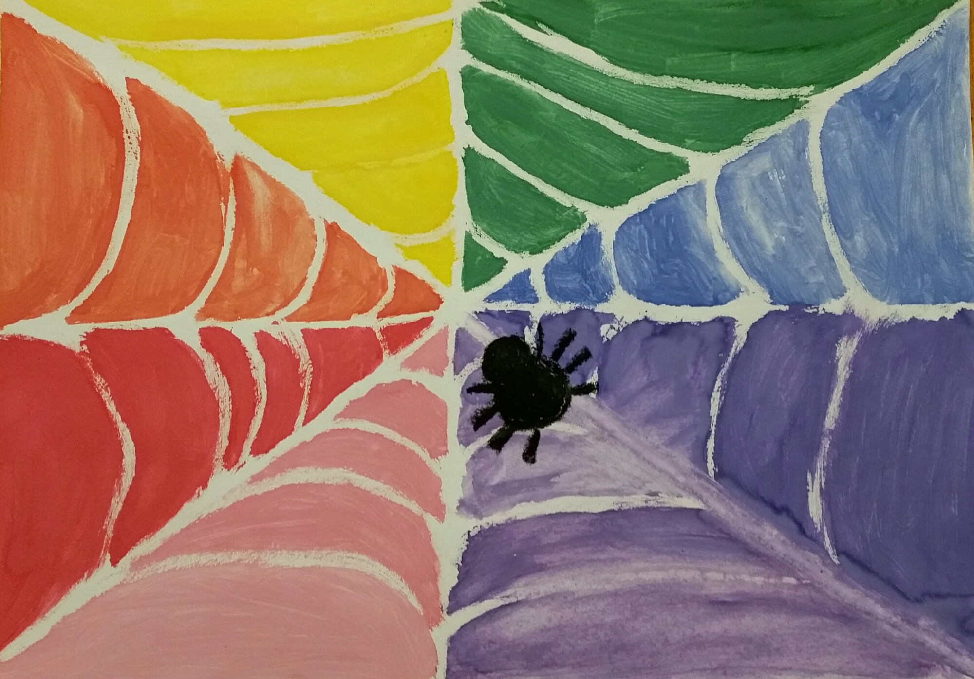 pastellkritor och vattenfärg
